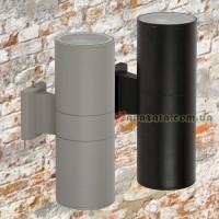 Уличный настенный светильник 923LYH06-2 черный / серый
