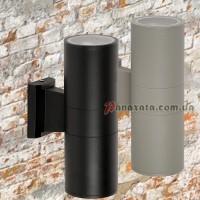 Уличный настенный светильник 923LYH07-2 черный / серый