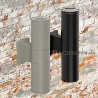 Уличный настенный светильник 923LYH08-2 черный / серый