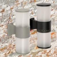 Уличный настенный светильник 923LYH10-2 черный / серый