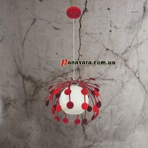 Люстра подвесная 7073009-1 красная