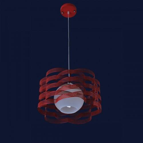 Люстра подвесная 7076154-1 красная