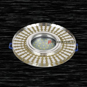 Точечный стеклянный светильник 716MKD-C27 золотой