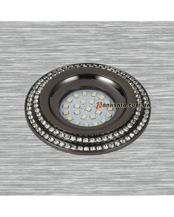 Точечный металлический светильник 716MKD-C28 черный