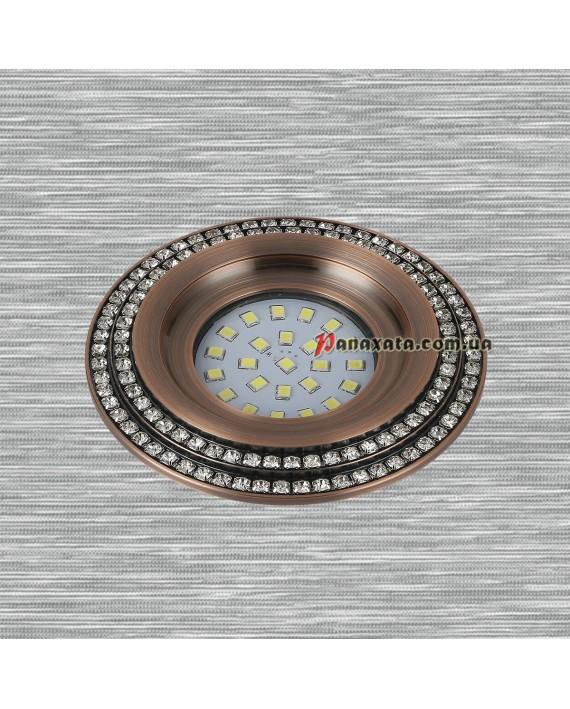 Точечный металлический светильник 716MKD-C28 медный