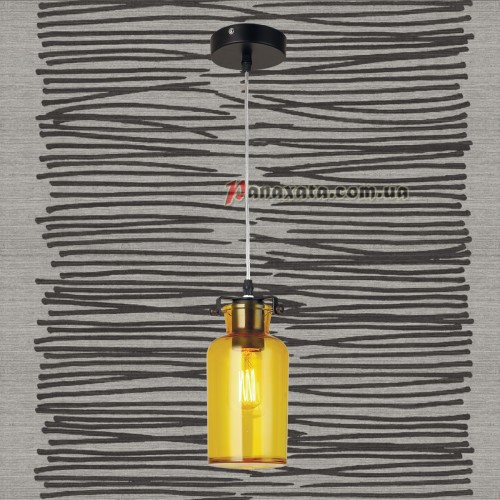 Люстра подвесная Loft 720P81103-1 желтый
