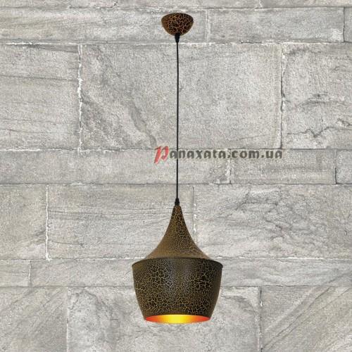 Люстра подвесная Loft 746WXA053-1 черно-золотая