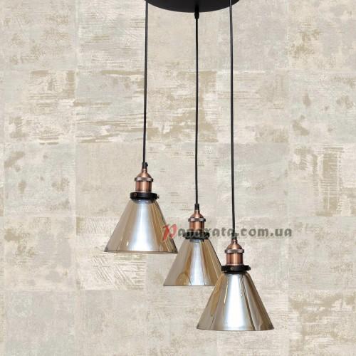 Люстра подвесная Loft 750MD41098-3 коричневая