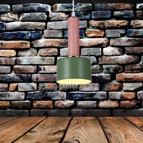 Люстра подвесная Loft 7529517-1 green-rose (d130)