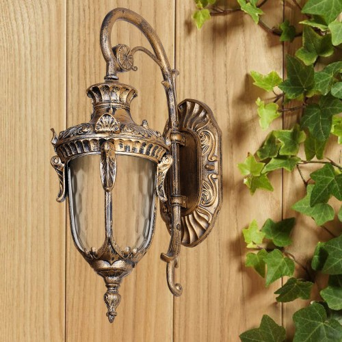 Уличный светильник 760DJ004-S-W GB E27 170х260х440мм
