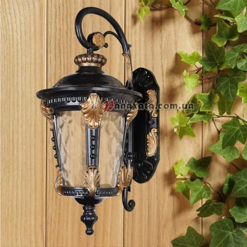 Уличный светильник 760DJ006-M-W GB+BK E27 220х280х500мм
