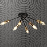Люстра потолочная Loft 7688065-6 bk
