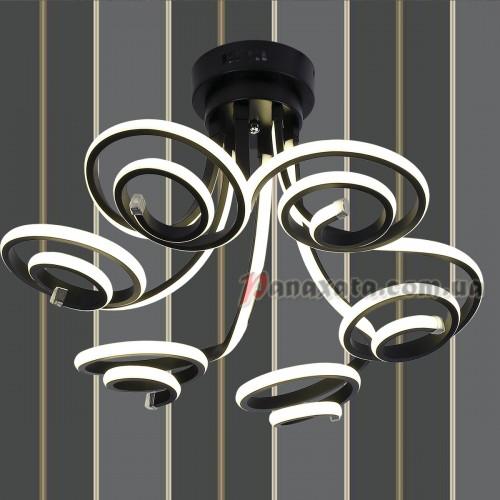 Люстра потолочная LED 801L7001+6 BK