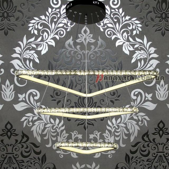 Люстра хрустальная LED 801L7071-3 черная