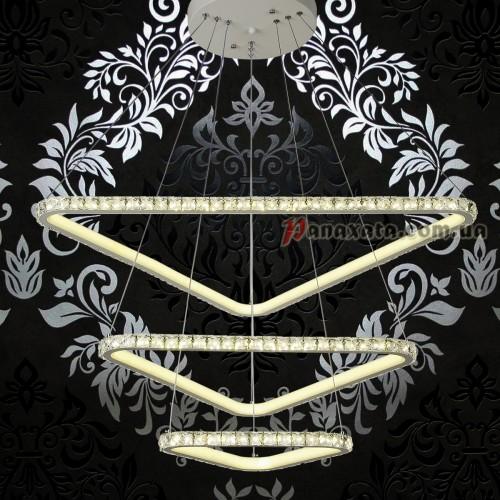 Люстра хрустальная LED 801L7071-3 белая