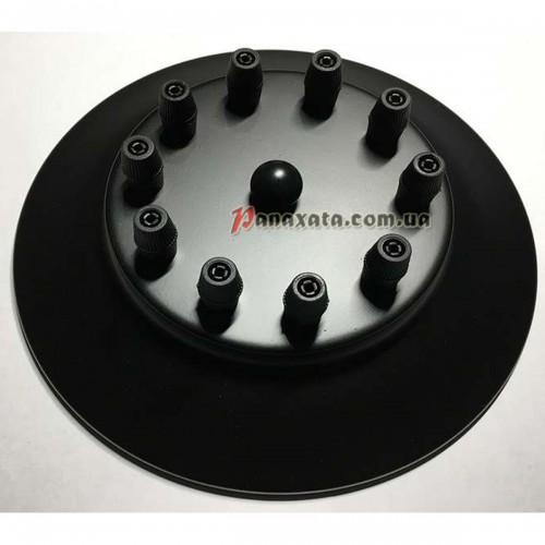 Основание крепежное на 10 круг 200мм black