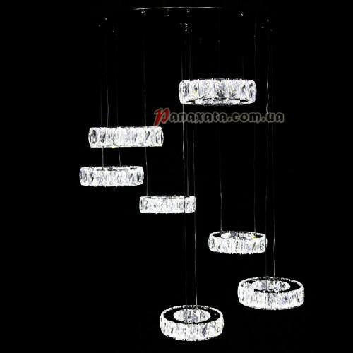 Люстра хрустальная CRISTALIS PREMIUM LIGHT KD6035-Y70 c чипами Samsung 7 колец