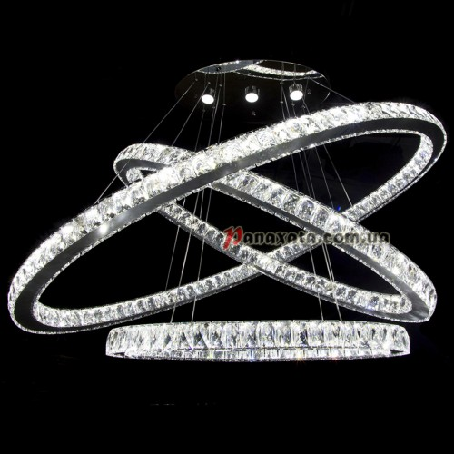 Люстра хрустальная CRISTALIS PREMIUM LIGHT KD3039-B1803 c LED-чипами Samsung 1200мм 3 овала