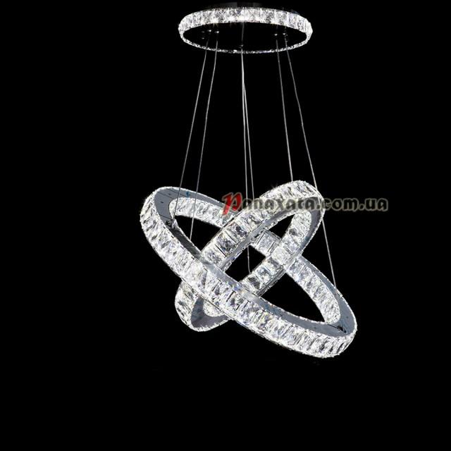 Люстра хрустальная CRISTALIS PREMIUM LIGHT KD3053-93 c LED-чипами Samsung 2 кольца 535мм