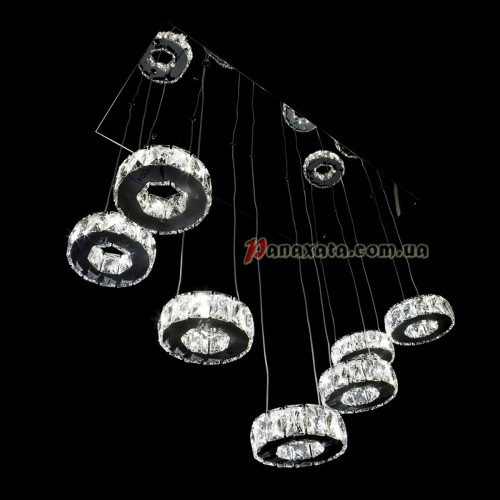 Люстра хрустальная CRISTALIS PREMIUM LIGHT KD6035-F42 c LED-чипами Samsung 7 колец