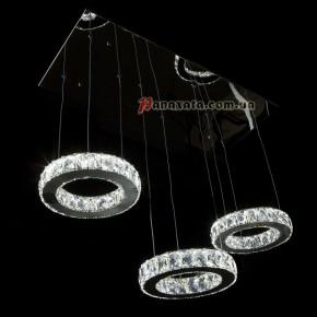 Люстра хрустальная CRISTALIS PREMIUM LIGHT KD6035-F72 c LED-чипами Samsung 3 кольца