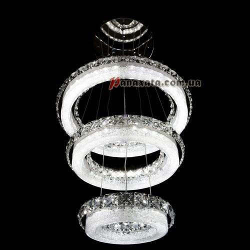ХРУСТАЛЬНАЯ ЛЮСТРА CRISTALIS PREMIUM LIGHT KD6071-Y78 c LED-чипами Samsung 3 кольца
