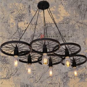 Люстра подвесная Loft 746WXA011-6 черная